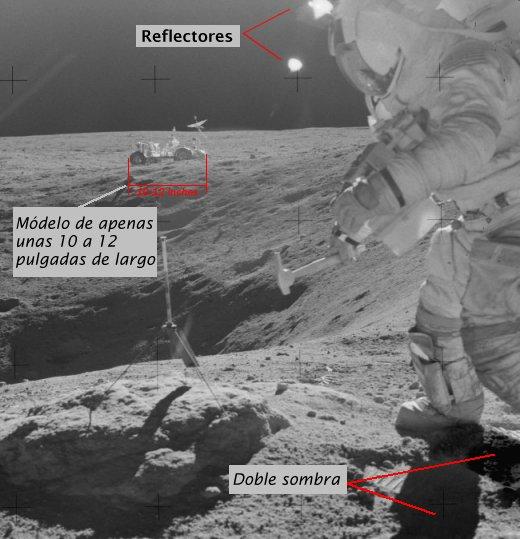 En esta fotografía, tomada por la tripulación del Apolo 14, se puede ...