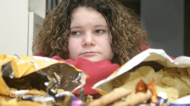 Depressed-Girl-Teen-Junk-food-Unhealthy-Diet