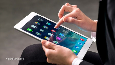 Editorial-Woman-Holding-IPad-Tablet-Technology-Computer